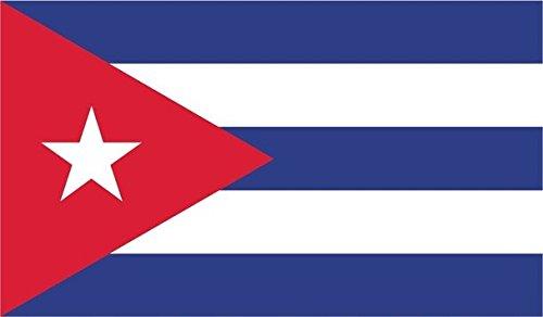 JMM Industries calcomanía de Vinilo con Bandera de Cuba para Parachoques de Ventana de Coche Cubano de 5 Pulgadas por 3 Pulgadas, Laminado Resistente a los Rayos UV PDS009
