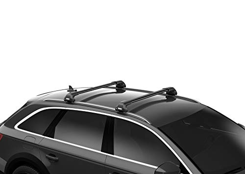 THULE 721320 WingBar Edge 86 - Barras de Techo, color Negro, 86 cm