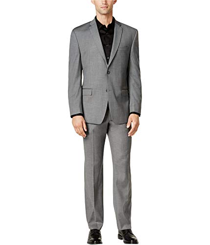 Andrew Marc Mens Classic Fit Formal Tuxedo, Grey, 40 Long / 33W x 33L