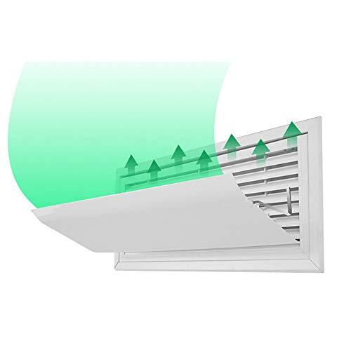 SHDT Acondicionador De Aire del Deflector, Caja Deflector De Aire De Ventilación, Ajustable Gancho De Acero Inoxidable Inicio/Oficina Paredes Laterales Colgantes Registros De Instalación,60CM