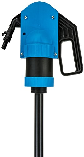 Lumax LX-1329 Lever Action Chemical Pump with Siphon Function. Premium Chemical Pump. Designed for Fast Transfer of Acidic Solutions Chemicals, Fuels, Fuel Oils and Water Based Media.