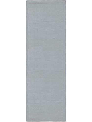 benuta Naturfaserteppich für Wohnzimmer und Schlafzimmer Alfombra, Lana, Azul, 60 x 120 cm