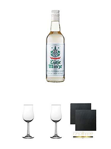 Lütje Minze Pfefferminzlikör 0,7 Liter Geschenkset