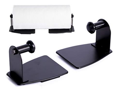 EHOMEA2Z Magnetic Paper Towel Holder Heavy Duty Steel Refrigerator Kitchen Fridge Bar Grill BBQ RV (Black, 1)