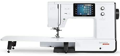 Bernette Máquina de coser por ordenador B77, pantalla táctil de color y doble transporte, incluye 500 puntadas