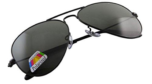 4sold 4sold Klassische Unisex Polarisierte Sonnenbrille in vielen Farbkombinationen (Schwarz)