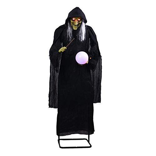 JJFJ Halloween Oversized Ornamenten, Staande Geesten om de bal heks te nemen, Elektrische Verlichting Decoratieve Props, Festival Props/Speelgoed voor Halloween