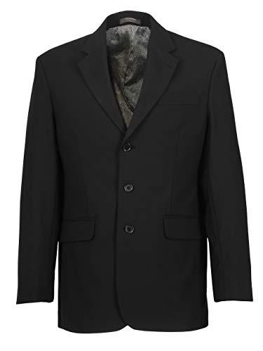 Herren Sakko DREI-Knopf klassisch Reverskragen Blazer Jackett Anzug Regular Fit bequem, Größe 50, anthrazitschwarz