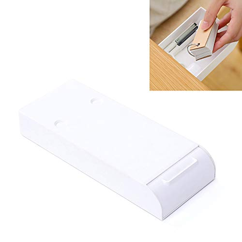 Self-Adhesive Pencil Tray Drawer, Hidden Desktop Hanging Organizer Under Desk Storage for Pens Pencils Phones Paperclips, etc.