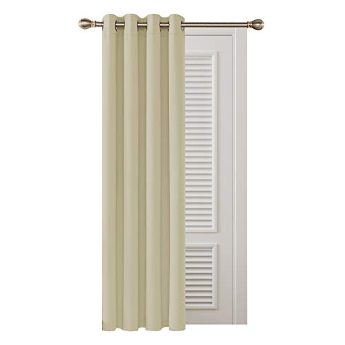 Deconovo Thermal Insulated Blackout Curtain Ring Top Curtain for Livingroom 52'x 63' Beige 1 PANEL