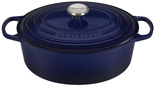 Le Creuset Enameled Cast Iron Signature Oval Dutch Oven, 9.5 qt., Indigo