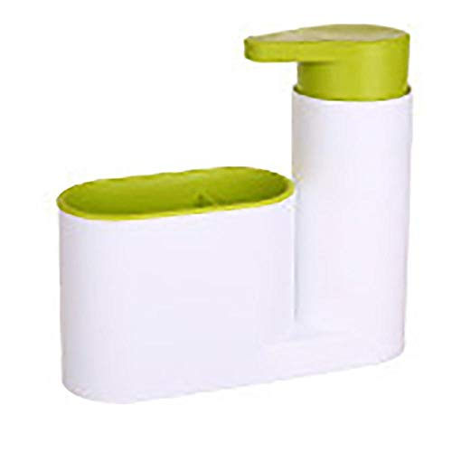 Keuken- en badkamerapparatuur Multifunctioneel opbergvak Gootsteen Zeep Wasmiddel Wasmiddel Handdesinfecterend 2PC-groen