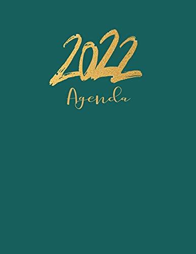 Agenda 2022: Grande Planificador anual 2022 12 meses , dia por pagina...