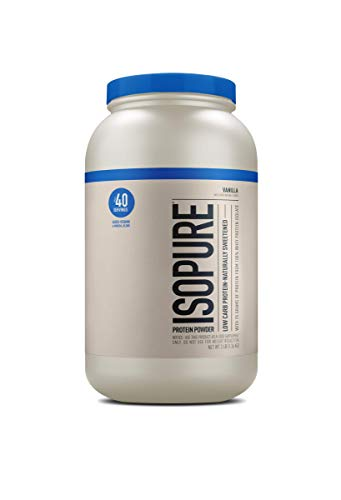 Isopure Low Carb Naturally Sweetened, Zinc for Immune Support, 25g Protein, Keto Friendly Protein...