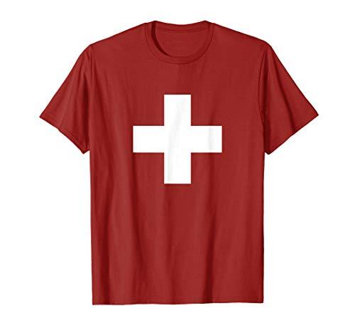 Schweizer Kreuz Schweiz Flagge Fahne Wappen Geschenk T-Shirt