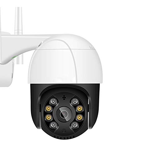 Cámara de seguridad para exteriores 1080P, domo de velocidad PTZ, cámara de vigilancia doméstica WiFi, excelente visión nocturna en color con resistencia al agua, visión nocturna, detección de movimie