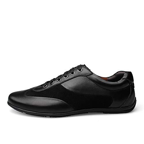 Heren 2019 schoenen Mode Sneakers Voor Heren Sport Schoenen Lace Up Echt Lederen Wear Resistance Duurzame Comfortabele Anti Slip Lichtgewicht Ronde Teen