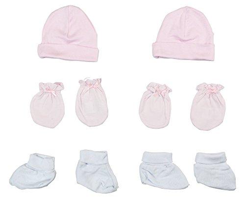 Bambini - Juego de gorro, botines y manoplas para niña (6 piezas)