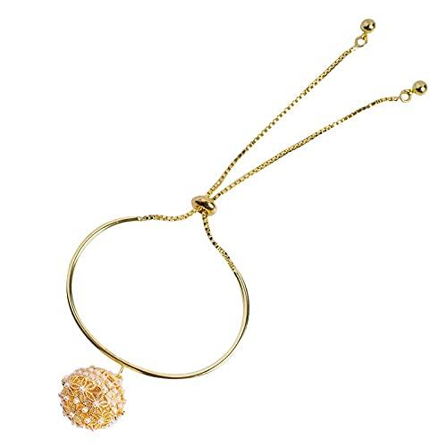 zhengyang Palacio pulsera vintage pulsera de perlas de Hanfu antiguo pulsera de palacio chino accesorios vintage pulsera de estilo palacio (metal color: oro)