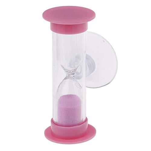 FUNRE 1Pc Multicolor Kinder Sanduhr Miniglas Sand Uhr for die Zähne Gadget Zahnbürste Swivel Sand Zeit-Minuten-Dusche-Timer (Color : 2)