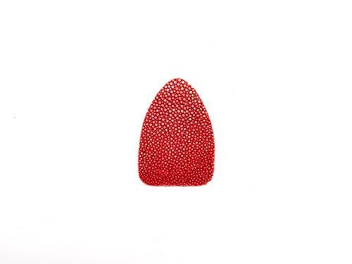 pfeilbauzubehoer.de Pfeilauflage Perlrochen, rot, geschliffen, einteilig