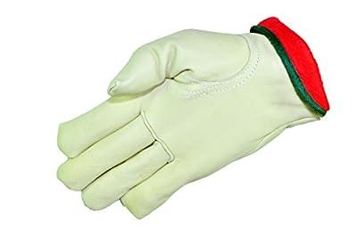 G & F 6003L-3 Premium Genuine Grain Cowhide Leather Work Gloves (3 Pair), Large