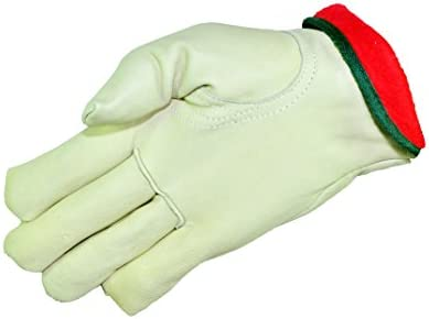 G F 6013L 3 Cold Weather Premium Genuine Grain Cowhide Leather Gloves with Red Fleece Lining product image