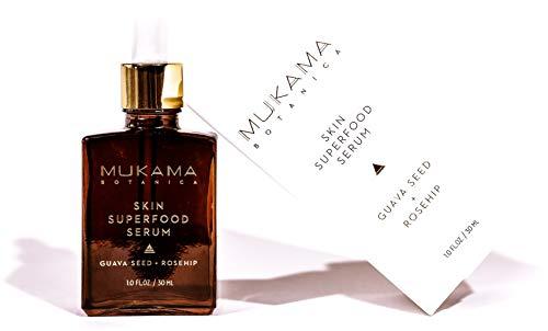 Mukama Botanica - Superfood Organic Anti Aging and Anti Wrinkle Facial Oil Eye Serum, Facial Healing Acne Scars and Dark Spots, 1oz