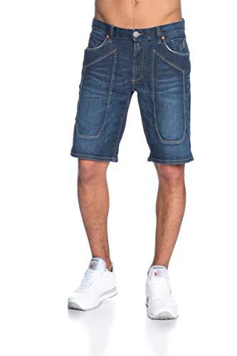 JECKERSON 5pkts Patch Bermuda Pantaloncini, Blu (Dark Blu 3bl D622), 46 (Taglia Produttore:33) Uomo