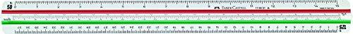 Faber-Castell 176531 - Reduktionsmaßstab 853 HP-A für Architektur, Skalierung 1:20:25:50:75:100:125
