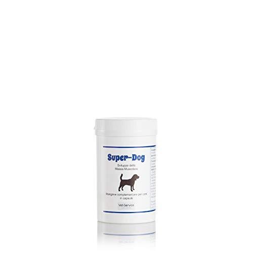 Super-Dog, conf. 30 cps - Sviluppo della Massa Muscolare - Mangime compl. (Integratore) per cani - Supporto per animali sportivi, stentato sviluppo di cuccioli, ipotrofia post infortunio o malattia