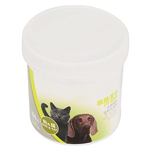 XQAQX Toallitas de Limpieza para Mascotas, toallitas de Aseo desodorizantes para Gatos y Perros, 100 Piezas no irritantes para Limpiar los Ojos