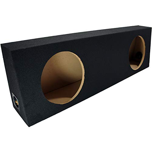 Dual 12 Subwoofer Regular Standard Cab Truck Sub Box Enclosure 5/8 MDF - Black