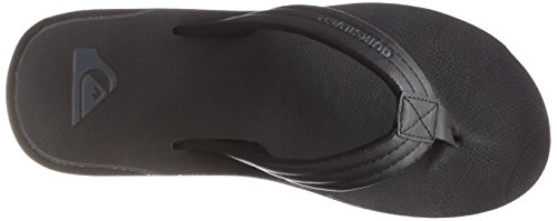Quiksilver Carver Nubuck-Sandals For Men, Zapatos de Playa y Piscina para Hombre, Negro (Solid Black Sbkm), 40 EU