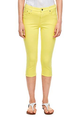 s.Oliver Damen Slim Fit: Caprihose aus Twill yellow 46