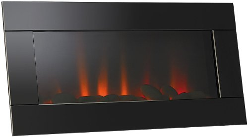 Lunartec LED Bild Kaminfeuer: LED-Wandkamin mit Flammen-Imitation (LED Kaminlicht)