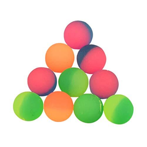 NUOBESTY Bombole Rimbalzanti da 35 Pezzi Bomboniere per Bambini Riempitivi per Borse da Festa Palline Colorate Che Rimbalzano per Regali Scolastici per Bambini Premio Scuola 32Mm (Colore Misto)