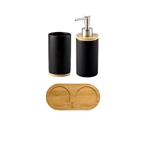 Sinzong tandenborstelbeker, bamboe, badkamer, glas, kopjeshouder, badkamer, emulsion, container, vloeibaar wasmiddel