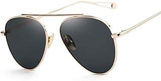AQWESD - Gafas polarizadas, Gafas de Sol Moda Uso General Protector Solar UV400 Gafas de Sol Luz polarizada Metal PC Exterior Lente Grande Marco Grande Protección UV