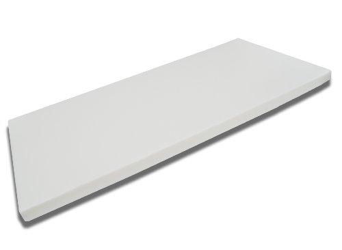 viscoelastische Comfort Matratzenauflage, Visco-Topper, RG 55 Kaschmirbezug 8cm hoch 90x200cm