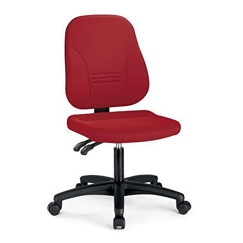 prosedia® Younico Plus 3 – Top Bürostuhl/Schreibtischstuhl – sehr ergonomisch - Made in Germany - TÜV Rheinland geprüft und Zertifiziert (Ohne Armlehnen, Rot)