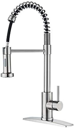 FORIOUS Kitchen Faucet with Pull Down Sprayer Commercial Spring Kitchen Sink Faucet with Pull product image
