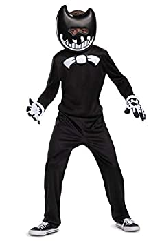Ink Bendy Costume for Kids Bendy and The Ink Machine Video Game Themed Character Jumpsuit Classic Child Size Extra Large  14-16  Black