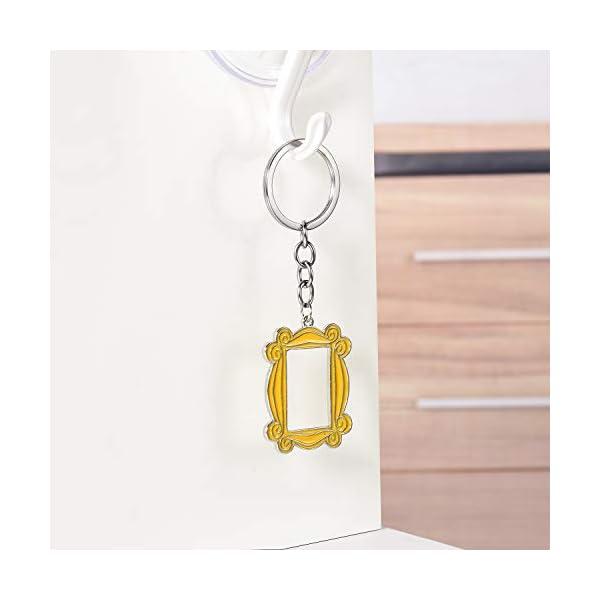 Frame Yellow Peephole Handmade Door Frame As Seen on Monica's Door Keychain, Great Present for Friends Fan! (Metal)