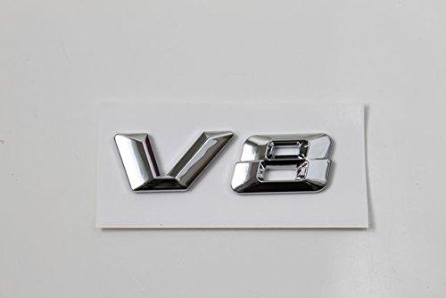 【ノーブランド品】V8エンブレム ベンツ風タイプ AMG ロリンザ エンジン BMW クラウン セルシオ シーマ BITURBO BENZ メルセデス EMBLEM