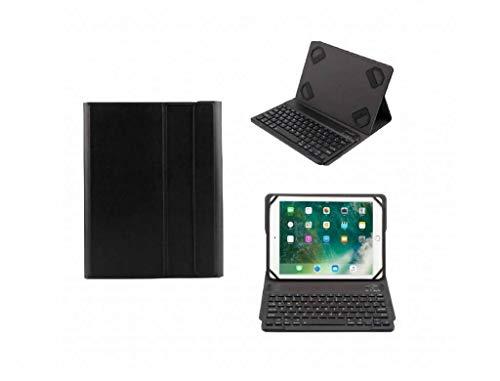 Ntech Zwart Magnetically Detachable/Wireless Bluetooth Keyboard hoesje Samsung Galaxy Tab S3 9.7/Tab E 9.6