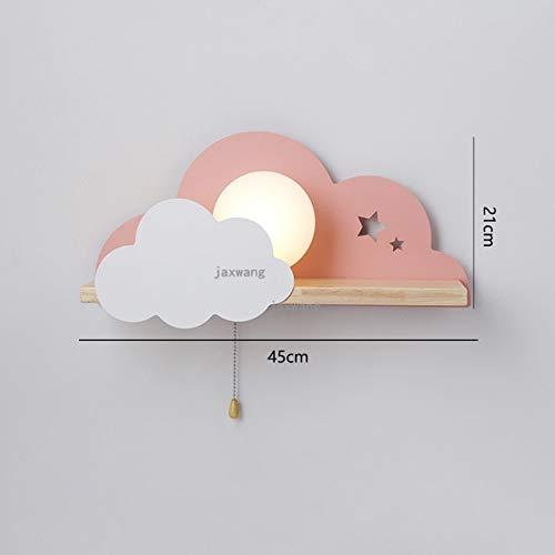 RAQ LED glas wandlampen slaapkamer lampen moderne kinderkamer Cloud wandlamp trappen wandlamp warm C roze 45 cm