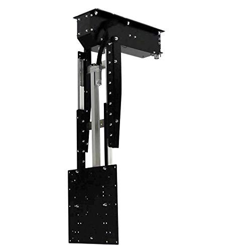pushMAXI-Tele - TV Deckenhalterung elektrisch schwenkbar, klappbar, ausfahrbar - für bis 65 Zoll Fernseher bis 28 Kg - Monitor Halter für Decke VESA bis 400x400 mm