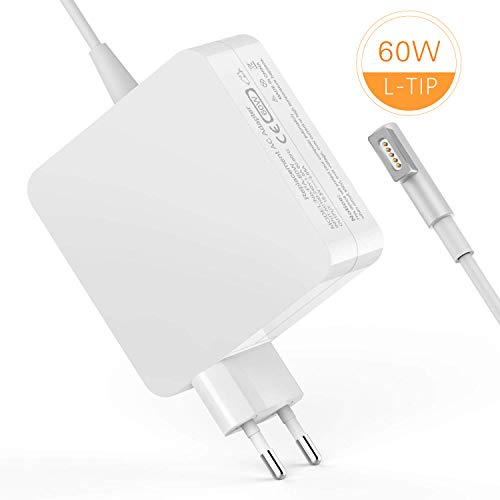 TechDot Macbook Pro Ladekabel 60W MagSafe 1 L Macbook Pro Ladegerät Power Adapter Netzteil kompatibel mit Apple 13