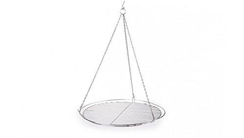 troph-e-shop Grillrost Metall 50cm für Dreibein rund mit Kette